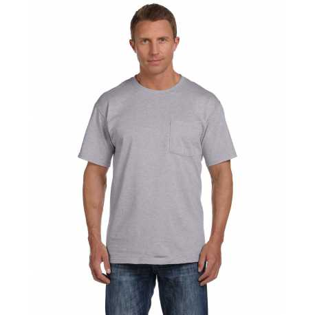 Fruit Of The Loom 3931P Adult 5 oz. HD Cotton Pocket T-Shirt