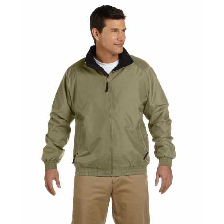 Harriton M740 Adult Fleece-Lined Nylon Jacket