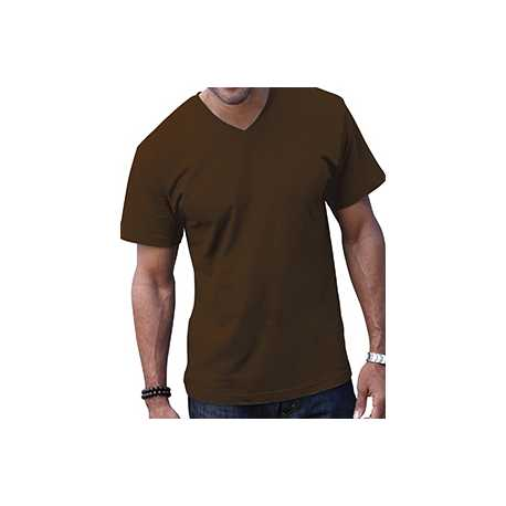 LAT 6907 Adult Fine Jersey V-Neck T-Shirt