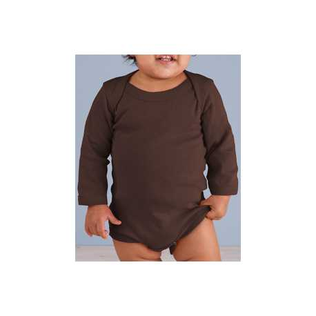Rabbit Skins 4411 Infant Long-Sleeve Baby Rib Bodysuit