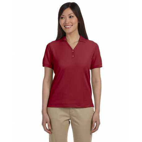 Devon & Jones D100W Ladies' Pima Pique Short-Sleeve Y-Collar Polo