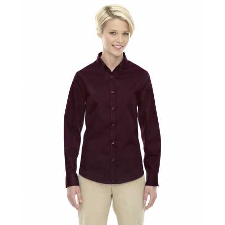 Core365 78193 Ladies' Operate Long-Sleeve Twill Shirt