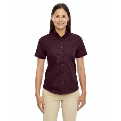 Core365 78194 Ladies' Optimum Short-Sleeve Twill Shirt