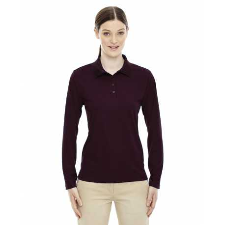 Core365 78192 Ladies' Pinnacle Performance Long-Sleeve Pique Polo