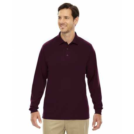 Core365 88192 Men's Pinnacle Performance Long-Sleeve Pique Polo