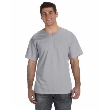 Fruit Of The Loom 39VR Adult 5 oz. HD Cotton V-Neck T-Shirt