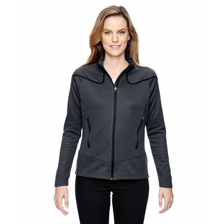 North End Sport Red 78806 Ladies' Cadence Interactive Two-Tone Brush Back Jacket