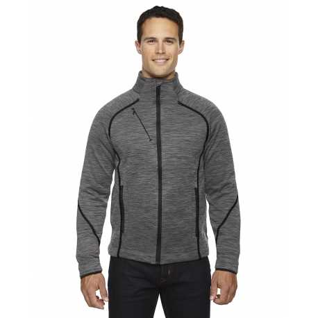 North End Sport Red 88697 Men's Flux Melange Bonded Fleece Jacket