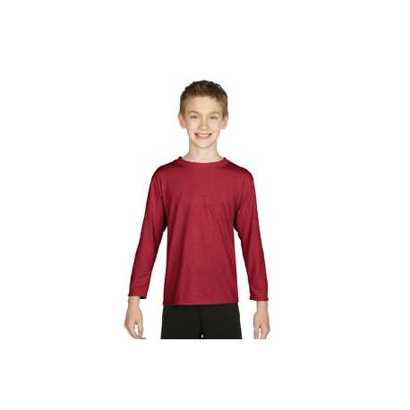 Gildan G424B Youth Performance 5 oz. Long-Sleeve T-Shirt