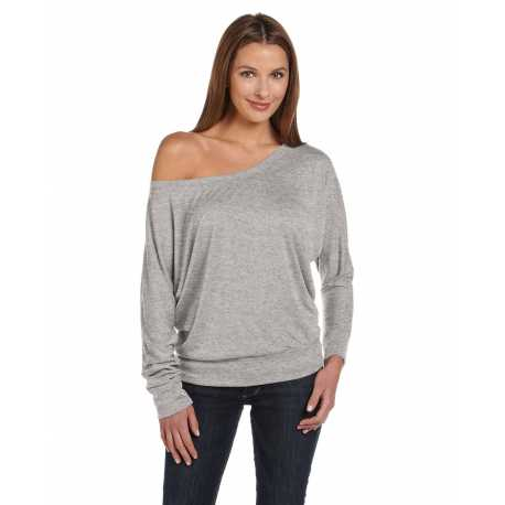 Bella + Canvas 8850 Ladies' Flowy Long-Sleeve Off Shoulder T-Shirt