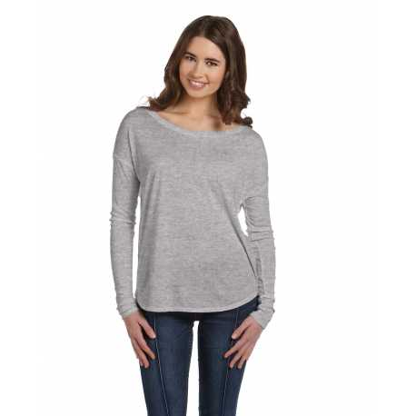 Bella + Canvas 8852 Ladies' Flowy Long-Sleeve T-Shirt with 2x1 Sleeves