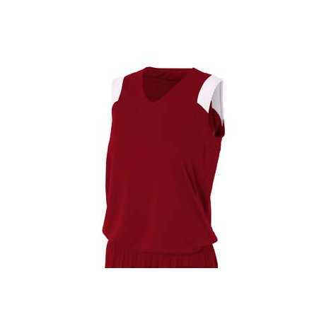 A4 NW2340 Ladies' Moisture Management V Neck Muscle Shirt