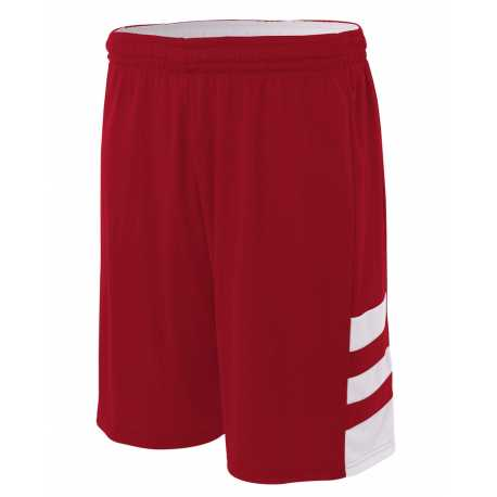 """A4 NB5334 Youth 8"""" Inseam Reversible Speedway Shorts"""