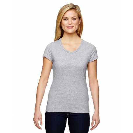 Champion T050 Ladies' Vapor Cotton Short-Sleeve V-Neck T-Shirt