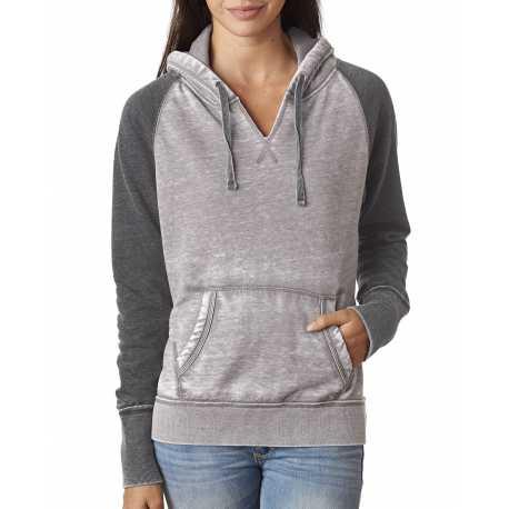 J America JA8926 Ladies' Zen Contrast Pullover Hood