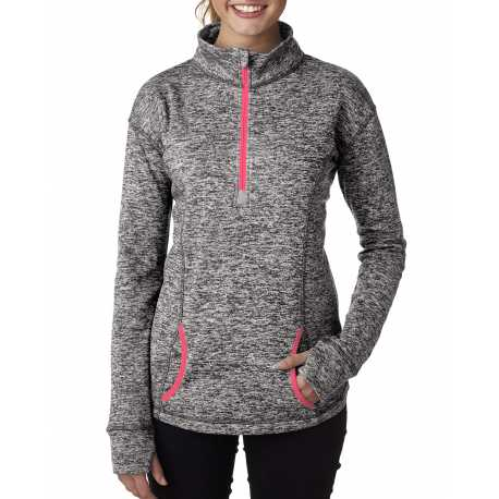 J America JA8617 Ladies' Cosmic Fleece Quarter-Zip