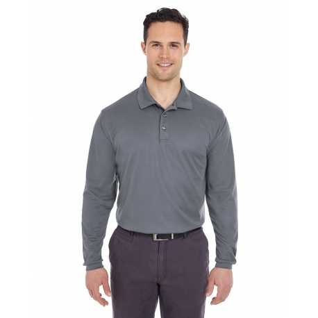 UltraClub 8210LS Adult Cool & Dry Long-Sleeve Mesh Pique Polo