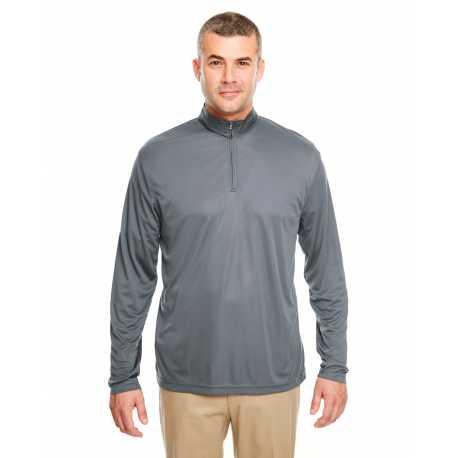 UltraClub 8424 Men's Cool & Dry Sport Performance Interlock Quarter-Zip Pullover