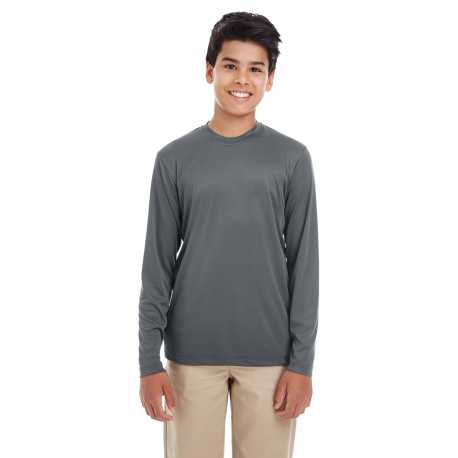 UltraClub 8622Y Youth Cool & Dry Performance Long-Sleeve T-Shirt