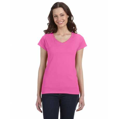 Gildan G64VL Ladies' SoftStyle 4.5 oz. Fitted V-Neck T-Shirt