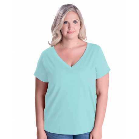 LAT 3807 Ladies' Curvy V-Neck Premium Jersey T-Shirt