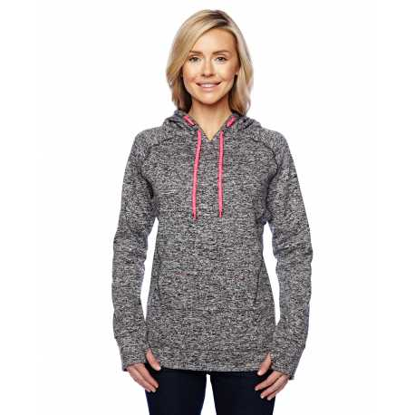 J America JA8616 Ladies' Cosmic Contrast Fleece Hood
