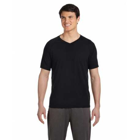 All Sport M1105 Men's Performance Triblend Short-Sleeve V-Neck T-Shirt