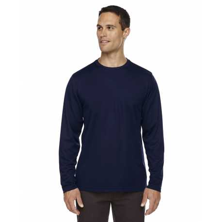 Core365 88199 Men's Agility Performance Long-Sleeve Pique Crewneck
