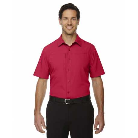 North End Sport Red 88675 Men's Charge Recycled Polyester Performance Short-Sleeve Shirt
