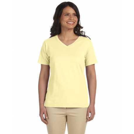 LAT L-3587 Ladies' V-Neck Premium Jersey T-Shirt