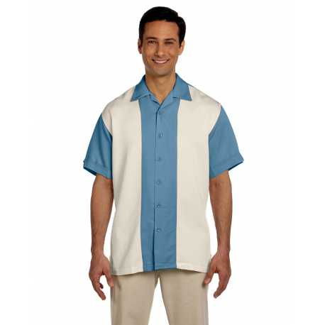 Harriton M575 Men's Two-Tone Bahama Cord Camp Shirt