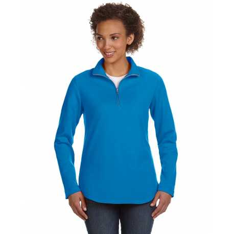 LAT 3764 Ladies' Quarter-Zip French Terry Pullover