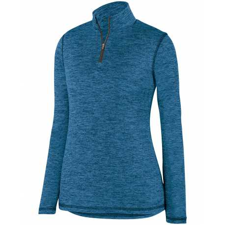 Augusta Sportswear 2957 Ladies' Intensify Black Heather 1/4 Zip Pullover