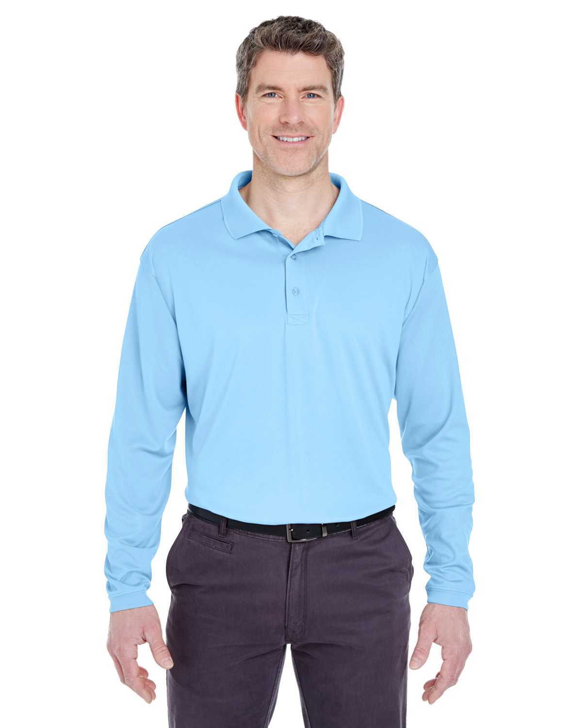 Ultraclub 8405ls Adult Cool Amp Dry Sport Long Sleeve Polo
