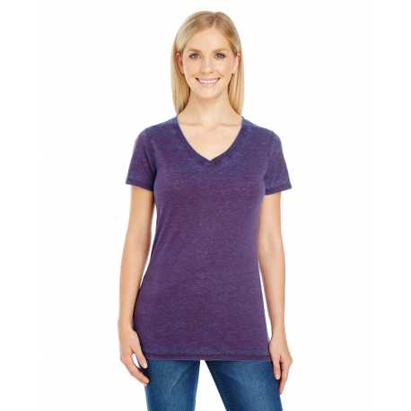 Threadfast Apparel 215B Ladies' Cross Dye Short-Sleeve V-Neck T-Shirt
