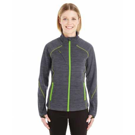 North End Sport Red 78697 Ladies' Flux Melange Bonded Fleece Jacket