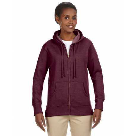econscious EC4580 Ladies' 7 oz. Organic/Recycled Heathered Fleece Full-Zip Hood