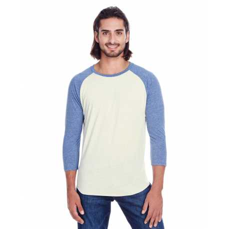 Threadfast Apparel 302G Unisex Triblend 3/4-Sleeve Raglan