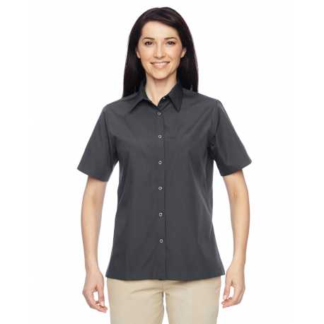 Harriton M545W Ladies' Advantage Snap Closure Short-Sleeve Shirt