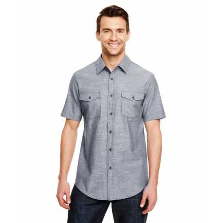 Burnside B9255 Mens Chambray Woven Shirt