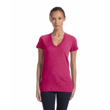 Bella + Canvas 8435 Ladies' Triblend Short-Sleeve Deep V-Neck T-Shirt