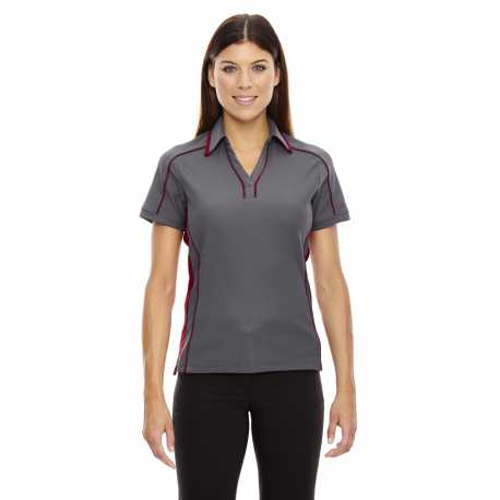 North End Sport Red 78648 Ladies' Sonic Performance Polyester Pique Polo