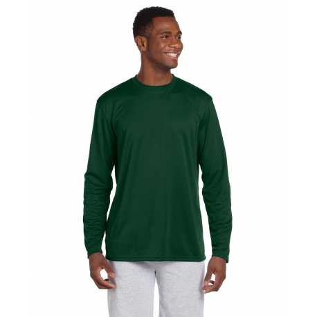 Harriton M320L Adult 4.2 oz. Athletic Sport Long-Sleeve T-Shirt