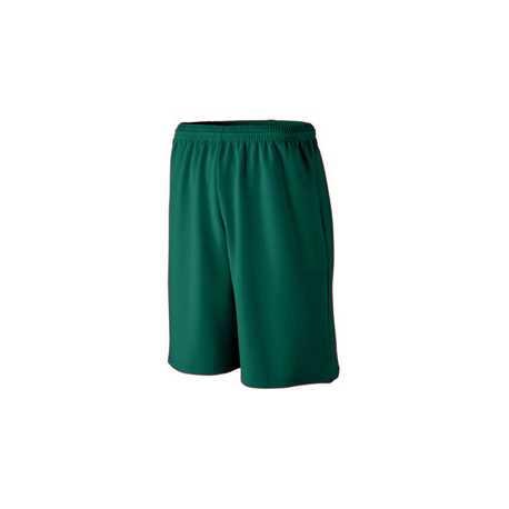 Augusta Sportswear 802 Long Length Wicking Mesh Athletic Short