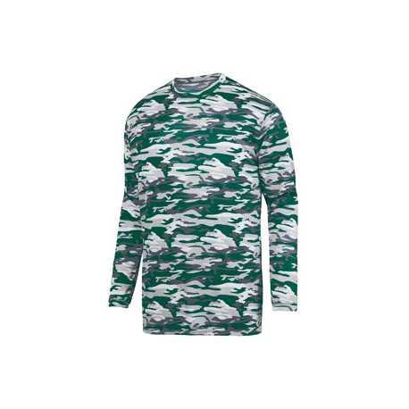 Augusta Sportswear 1808 Youth Mod Camo Long-Sleeve Wickng Tee