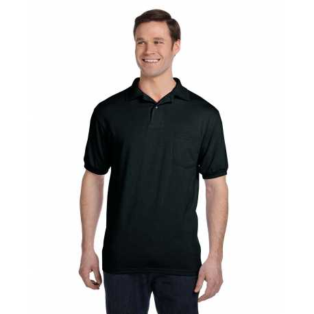 Hanes 054P Men's 5.2 oz., 50/50 EcoSmart Jersey Pocket Polo