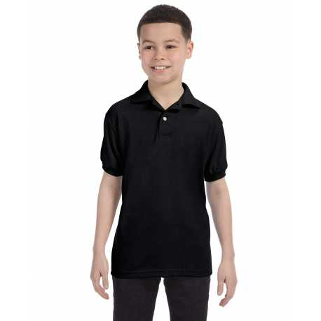 Hanes 054Y Youth 5.2 oz., 50/50 EcoSmart Jersey Knit Polo