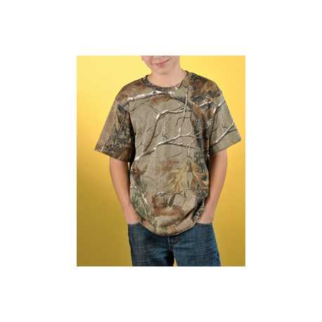 Code Five 2280 Youth Officially Licensed REALTREE Camouflage Short Sleeve T-Shirt