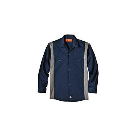 Dickies LL524T 4.5 oz. Industrial Long-Sleeve Color Block Shirt