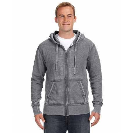 J America JA8916 Adult Vintage Zen Full-Zip Fleece Hood